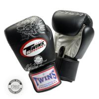 Боксерские перчатки тренировочные на липучке c драконом FBGV-6S