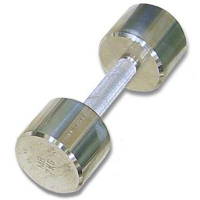 Гантель хромированная для фитнеса 8 кг MB-FitM-8