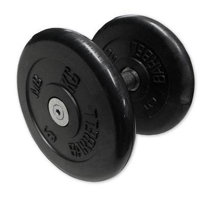 Гантель неразборная черная 6 кг