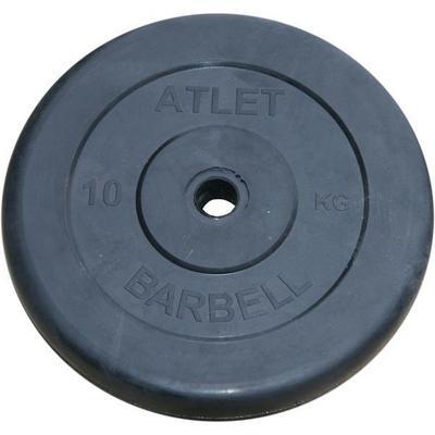 Диски обрезиненные, чёрного цвета 10 кг