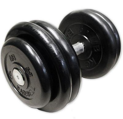 Гантель неразборная черная 28.5 кг