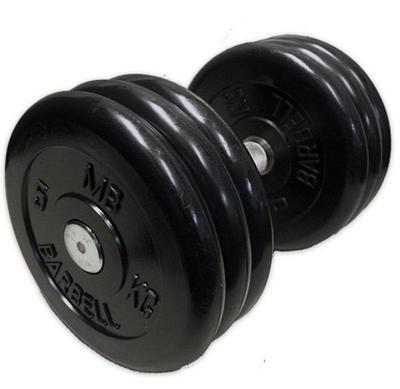 Гантель неразборная черная 31 кг