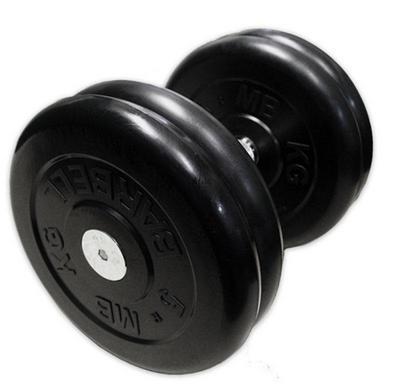 Гантель неразборная черная 21 кг