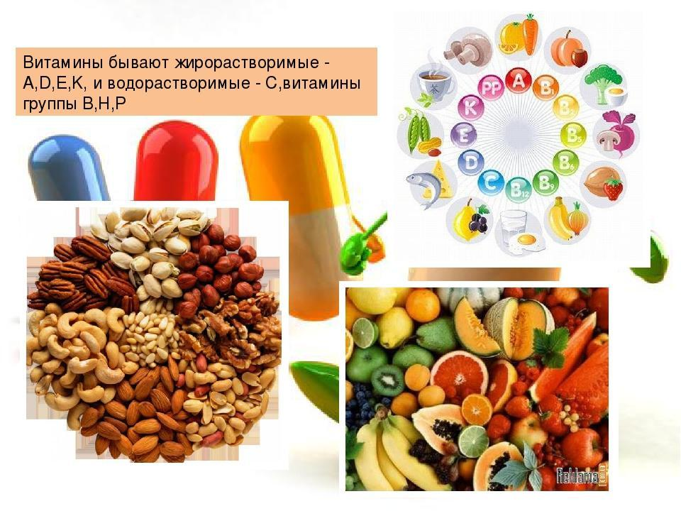 Отдельные витамины в капсулах