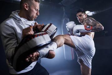 боксерские перчатки белые фото