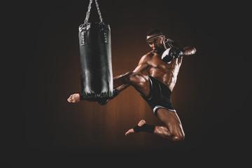 Боксерские перчатки тренировочные c драконом FBGV-6S фото