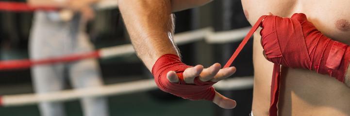 боксерские бинты перчатки для тренировок