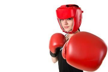 кожаный боксерский шлем