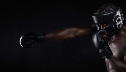 боксерский шлем открытый