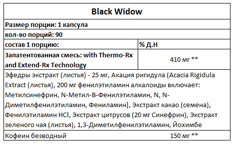 Black Widow Hi-Tech инструкция