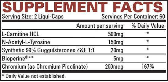 жиросжигатель Lipo 6 Stim-free 120 капсул