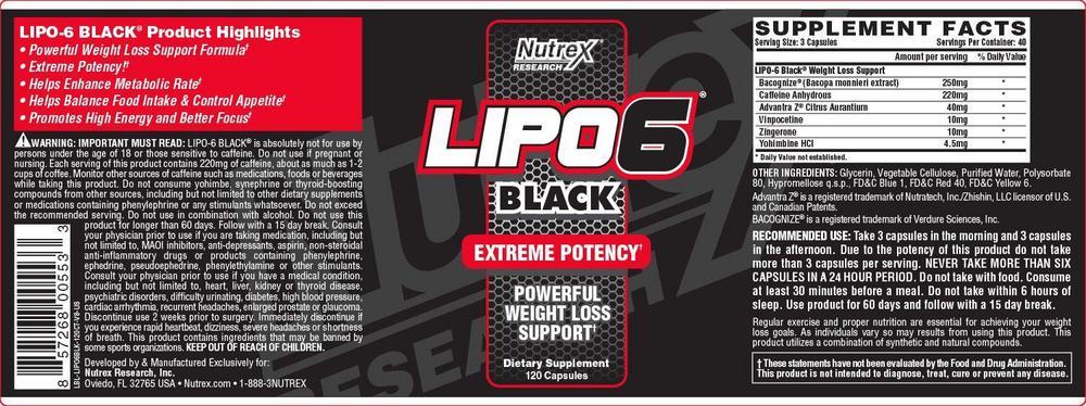 жиросжигатель Lipo-6 Black Nutrex