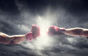 боксерские перчатки 10 унций вес