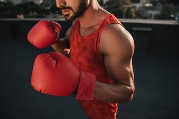 боксерские перчатки 16 унций из качественной натуральной кожи