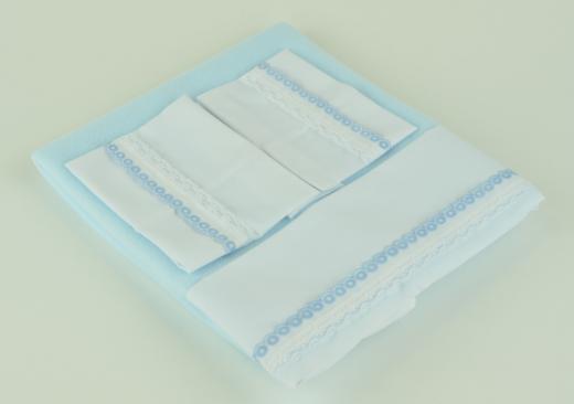 Арт. 0000061. Аксессуары для кукол ASI, постельное белье, голубое.