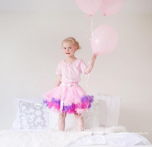 Пышная розовая юбка, арт. 43025