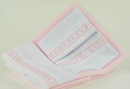 Арт. 0000060. Аксессуары для кукол ASI, постельное белье, розовое.