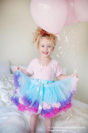 Пышная голубая юбка, арт. 43085