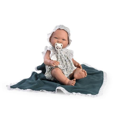 """Кукла-младенец """"ASI"""" Пабло в песочнике и пледом(арт.365731)"""