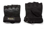 Перчатки тактические Gongtex укороченные черные