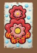 Пряник 8 Марта цветок