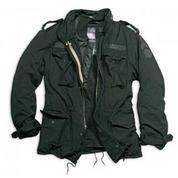 Классическая куртка М65 Regiment черная (иск.мех)