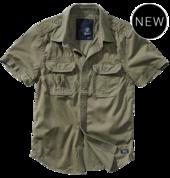Vintage Shirt shortsleeve olive - короткий рукав