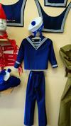 Фланка детская синяя