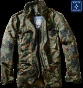 Уточнять наличие - Куртка M-65 с подстежкой (Flecktarn)