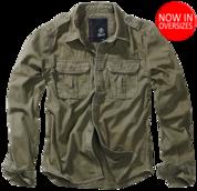 Vintage Shirt longsleeve oliv от Brandit - 100% хлопковая рубашка немецкой компании Brandit - Уточняйте наличие