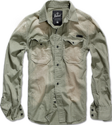 Уточнять наличие - Hardee Denim oliv-grau - 100% хлопковая рубашка.
