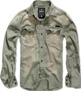 Hardee Denim oliv-grau - 100% хлопковая рубашка.