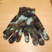 Перчатки флисовые камуфляжные