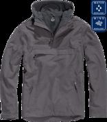 Уточнять наличие - Утепленная куртка-виндстоппер комбат-анорак (антрацит).