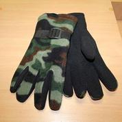 Перчатки флисовые камуфляжные до -30