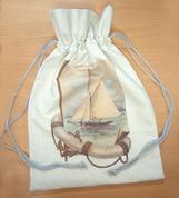Мешок подарочный (корабль) 30*45 см
