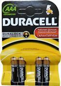 AAA батарейки Duracell, 4шт