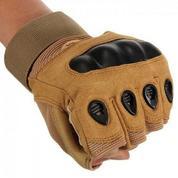 Перчатки бежевые Oakley тактические с защитой без пальцев