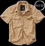 Уточняйте наличие по телефону - Vintage Shirt shortsleeve camel - короткий рукав