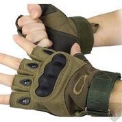 Перчатки олива Oakley тактические с защитой без пальцев