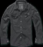 Уточнять наличие - SlimFit Shirt schwarz рубашка чёрного цвета