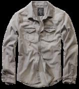 Riley Denim Shirt grey джинсовая рубашка серого цвета от компании Брандит