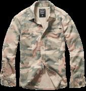 Josh Shirt camo light woodland - 100% хлопковая рубашка с длинным рукавом