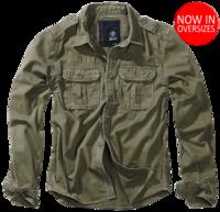 Уточняйте наличие по телефону - Vintage Shirt longsleeve oliv от Brandit - 100% хлопковая рубашка немецкой компании Brandit -