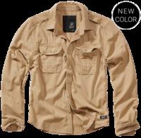 Уточнять наличие - Vintage Shirt longsleeve camel от Brandit - 100% хлопковая рубашка от компании Брандит