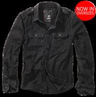 Уточнять наличие - Vintage Shirt longsleeve black от Brandit - 100% хлопковая рубашка от компании Брандит