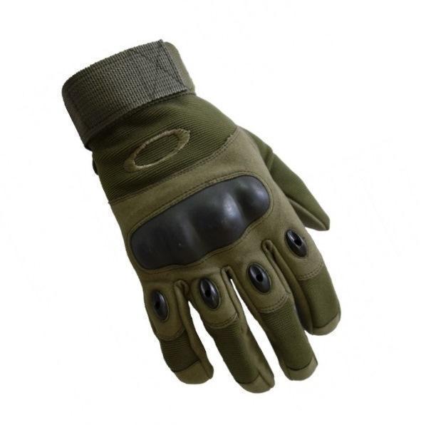 Перчатки Oakley олива тактические с защитой