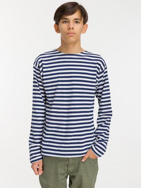 Тельняшка детская ВМФ, 100% х/б (темно-синяя полоса)