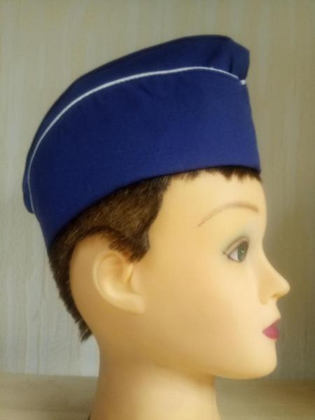 Пилотка голубая (синяя)