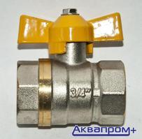 """Кран шаровый д/газа    3/4"""" г/г    б-ка (усиленный"""